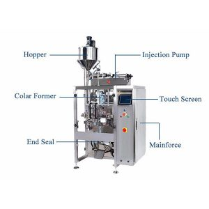Forma bertikala Bete Seal Machine Pistion Filler Liquid-ekin